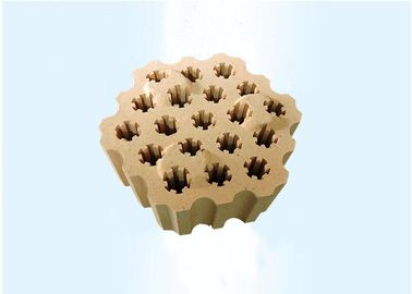 China Fireclay Checker Fire Proof Brick / Lattice Insulating Refractory Brick For Stove distributor